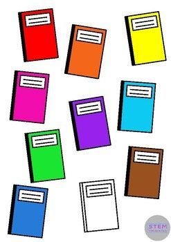 247x350 Free Notebook Back To School Clip Art 10 Colors