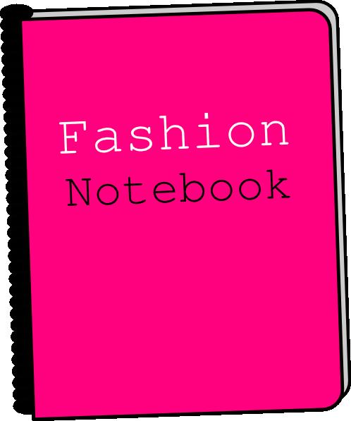 498x597 Fashion Notebook Clip Art