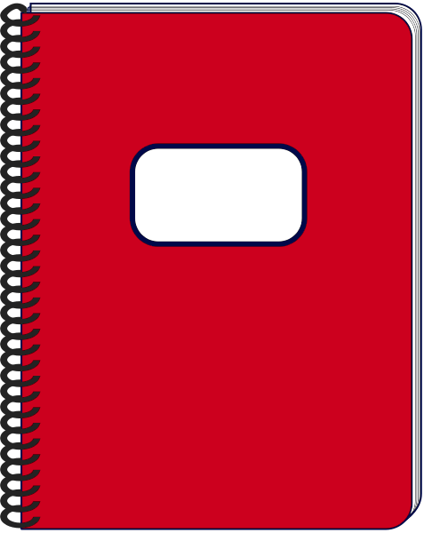 477x600 Notebook Clipart Spiral Notebook Red Clipart Panda Free Clipart