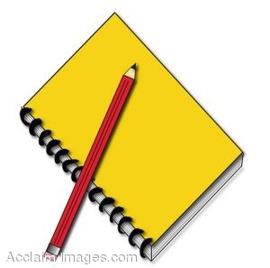 300x297 Notepad And Pencil Clip Art Notebook Clipart Notebook Pencil 13
