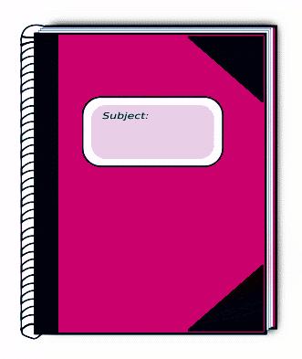 331x393 Clip Art Notebook Journal Clipart