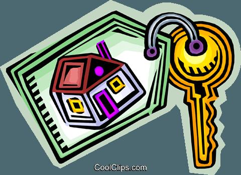 480x349 Chave De Casa Nova Livre De Direitos Vetores Clip Art