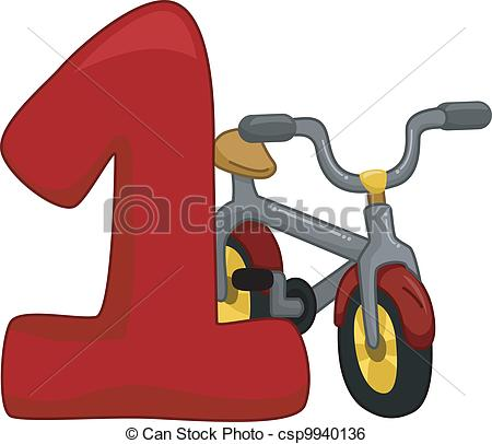 450x406 Illustration Featuring The Number 1 Clip Art Vector