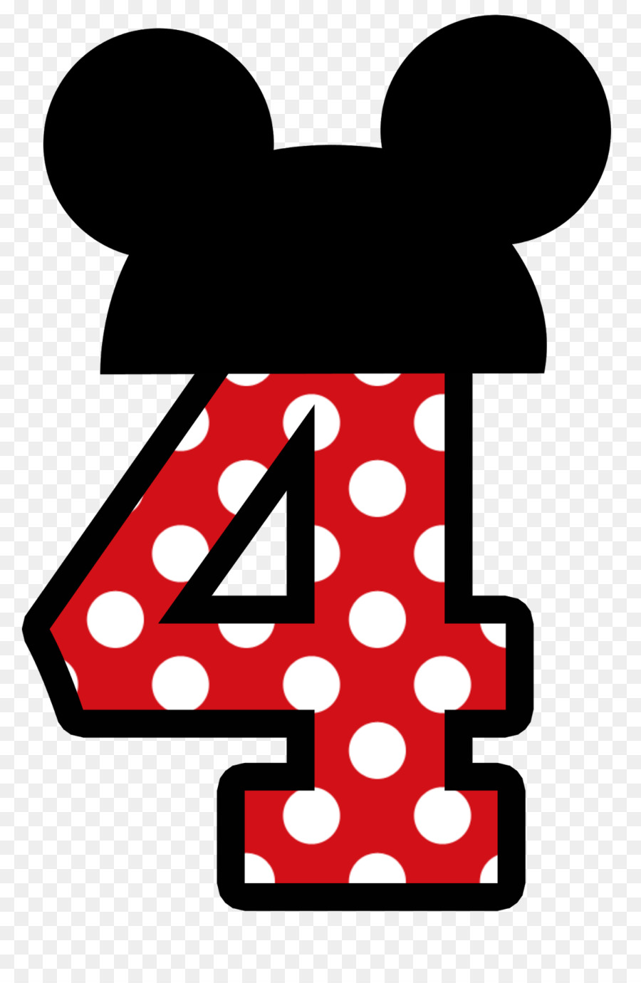 900x1380 Minnie Mouse Number 1 Clipart