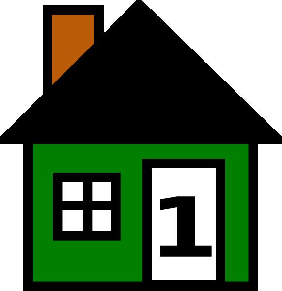 582x600 Number Green House Clip Art At Clker Com Vector Online