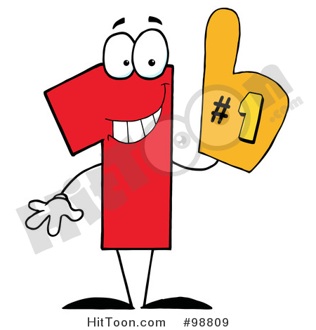 450x470 Number One Clipart