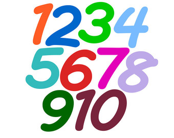 340x270 Numbers 1 10 Clipart Collection