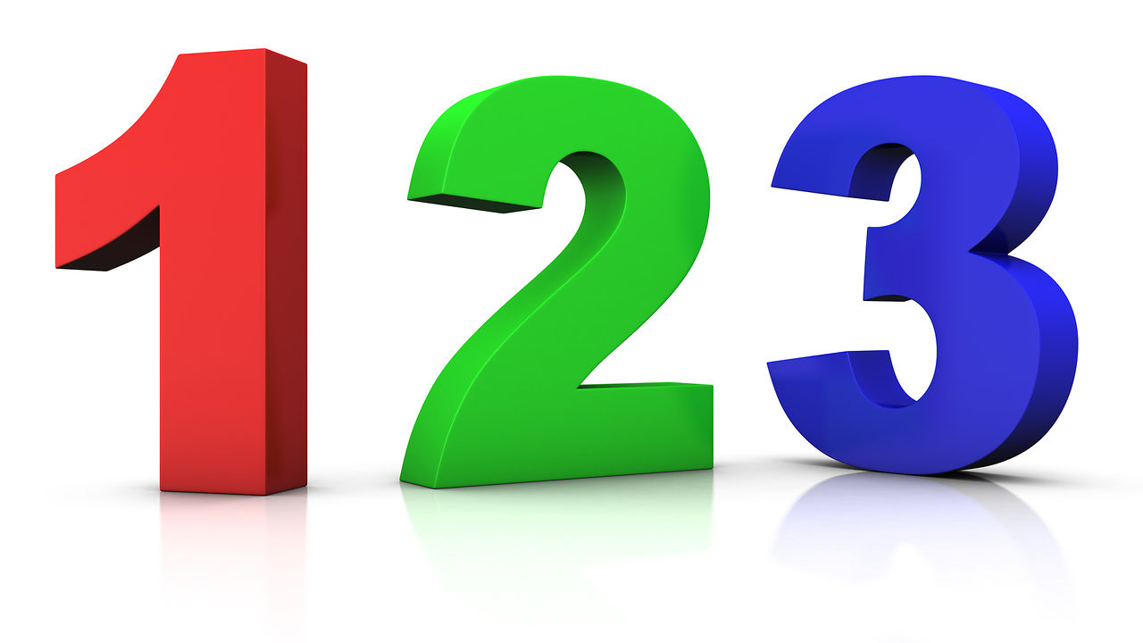 1280x720 Clip Art Numbers 1 Clipart