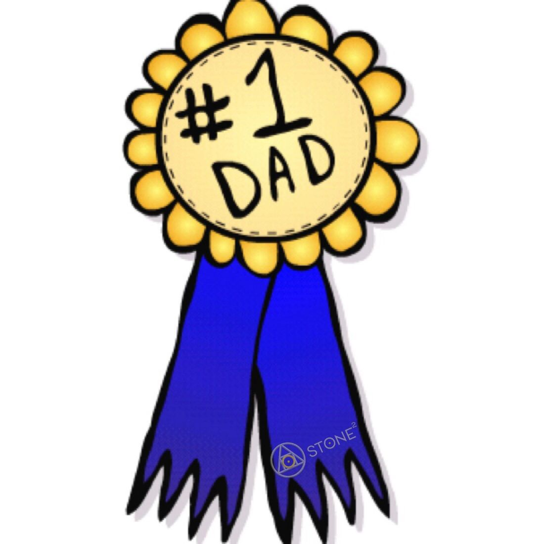 1100x1100 1dad Ribbon