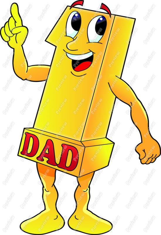 549x800 Number One Dad Clip Art