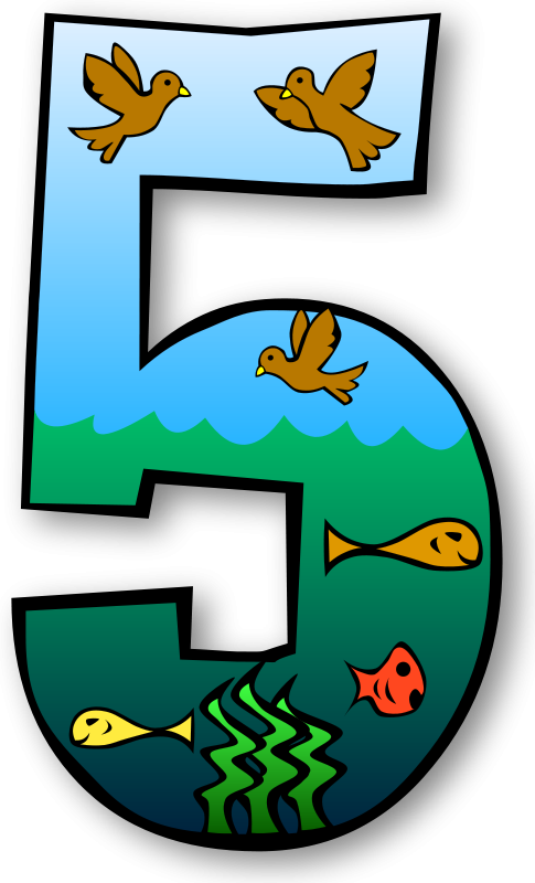 485x800 Free Clipart Creation Days Numbers Gerald G