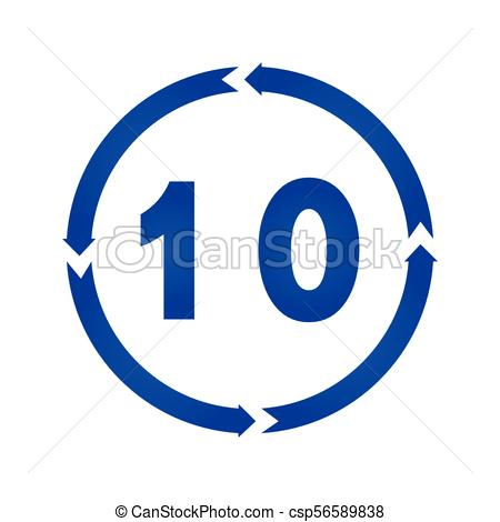 450x470 Number 10 Icon Vector. Number 10 Sign Turn Iconvector Vectors