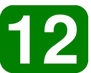 297x238 Number 12 Clip Art