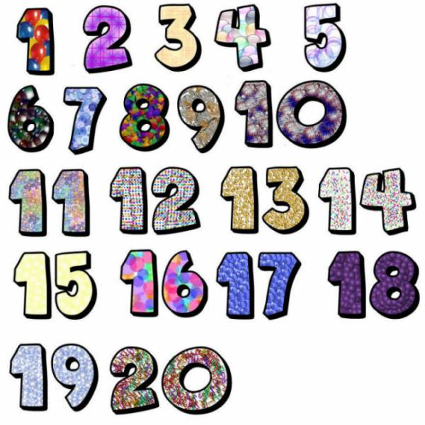 600x600 Numbers 1 10 Clipart Collection