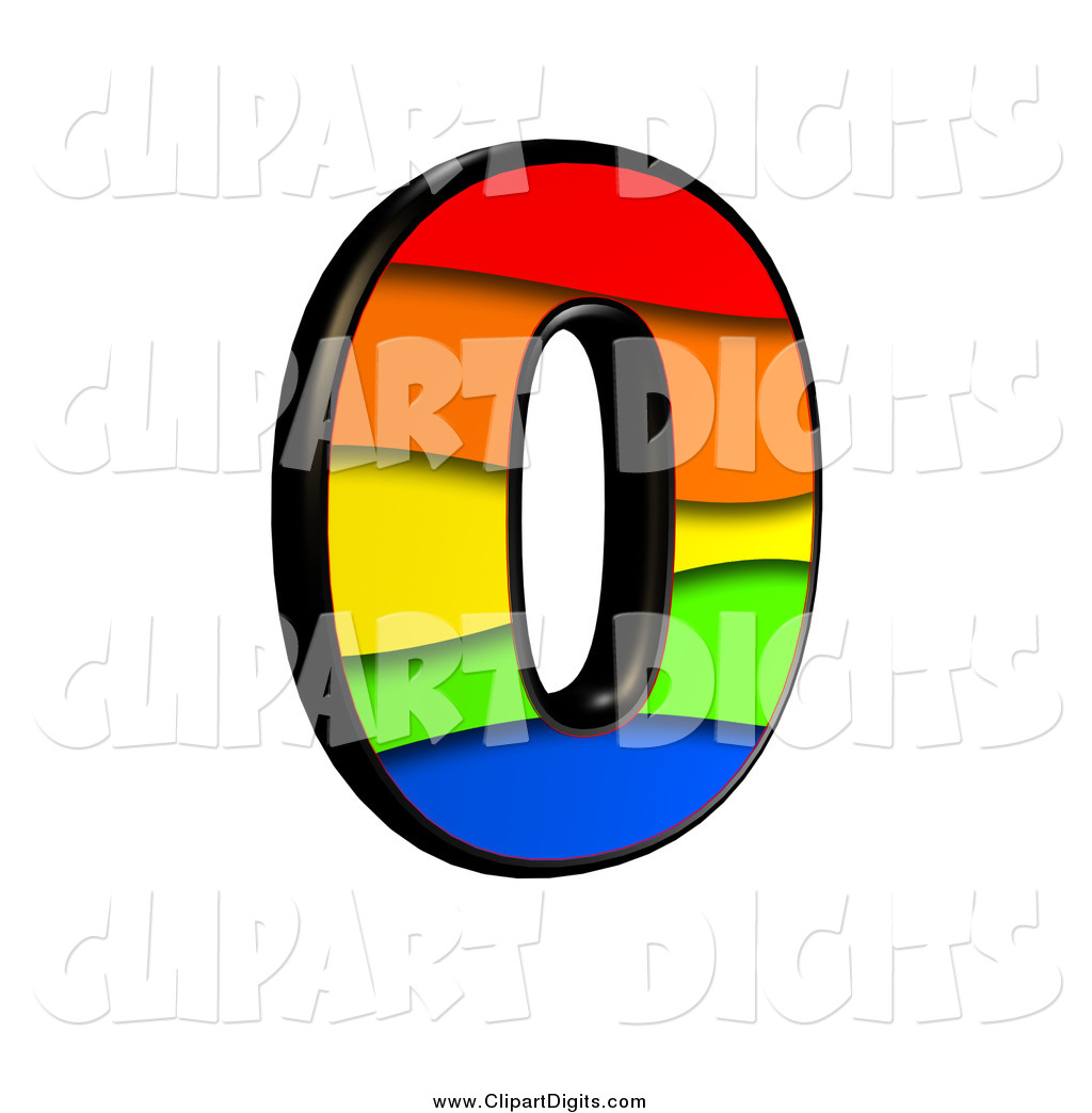 1024x1044 Clip Art Of A 3d Rainbow Number 0 By Chrisroll