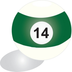 300x300 Billiard Ball Clipart Image