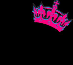 298x267 Pink Tilted Tiara And Number 13 Clip Art