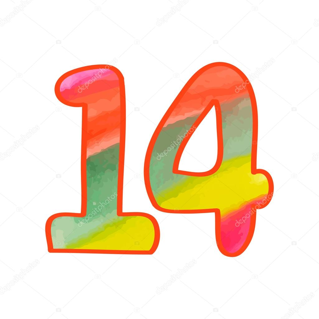 Number 14 Clipart At Getdrawings