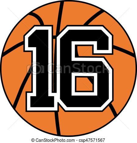 450x470 16 Basket Symbol. Design Of Basket Symbol With The Number 16.