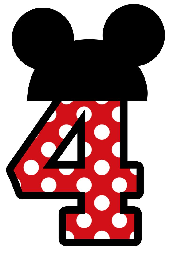 736x1121 Mickey Number 4 Clipart