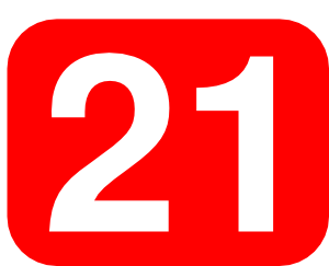 300x243 Red Rounded Rectangle With Number 21 Clip Art