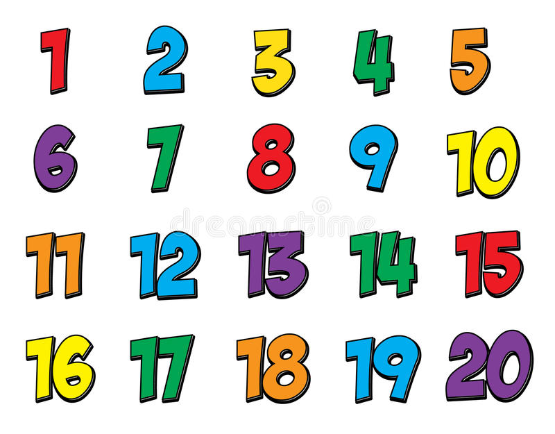 800x625 Collection Of Numbers Clipart 1 20 High Quality, Free