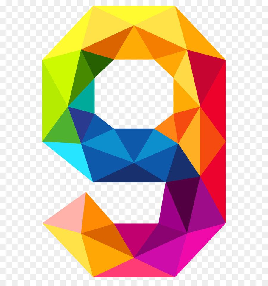900x960 Triangular Number Color Clip Art