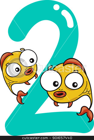 311x464 Fish With Number 2 Clipart
