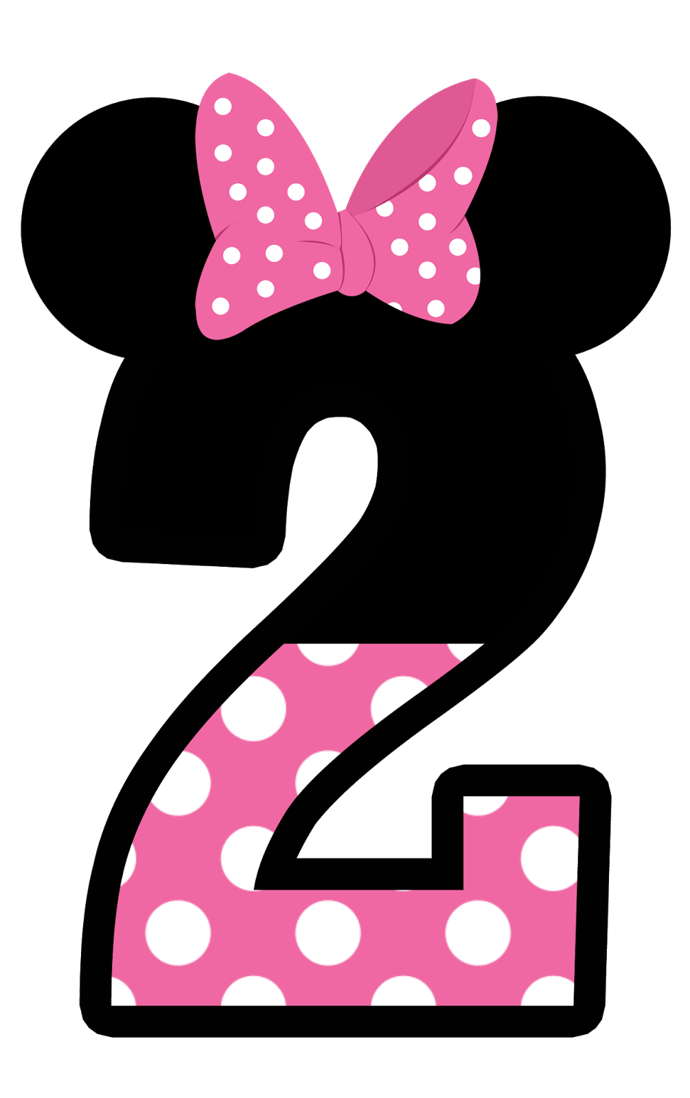 1005x1600 Minnie Mouse Number 2 Clipart