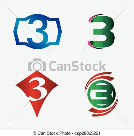 450x458 Number Logo Design.number Three Logo.logo 3 Vector Template Vector