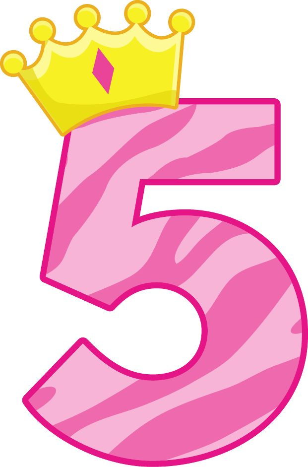 621x941 Birthday Number 5 Clipart