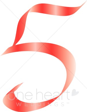 302x388 Number Five Clipart Pink Ribbon Alphabet