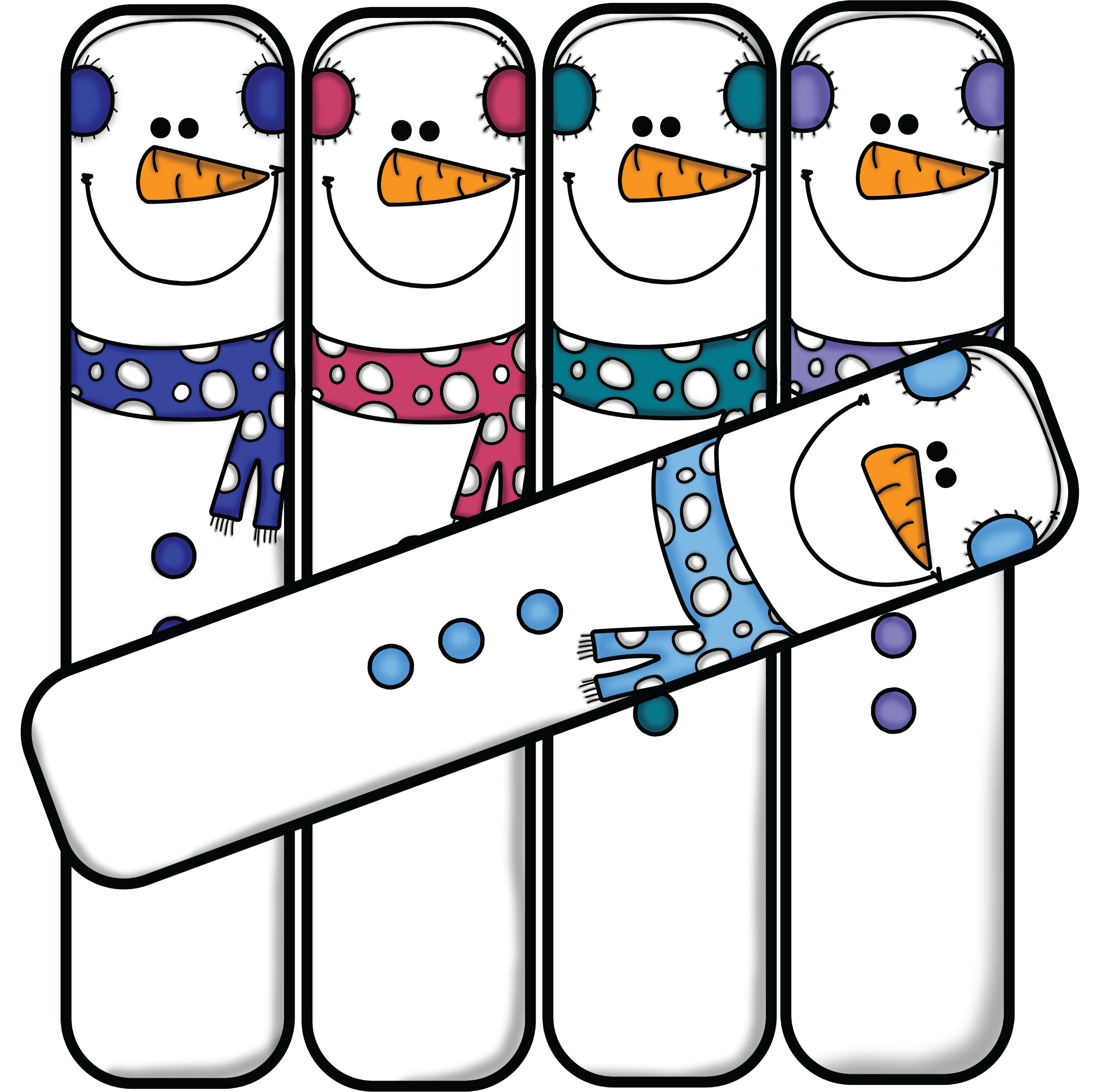 3615x3589 Number 5 Winter Clipart