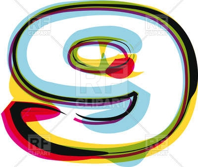 400x338 Abstract Colorful Number 9 Royalty Free Vector Clip Art Image
