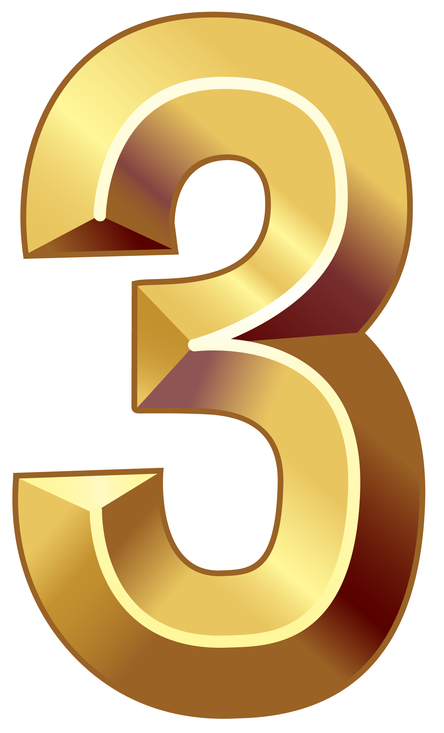 1533x2530 Gold Number Three Png Clipart Imageu200b Gallery Yopriceville