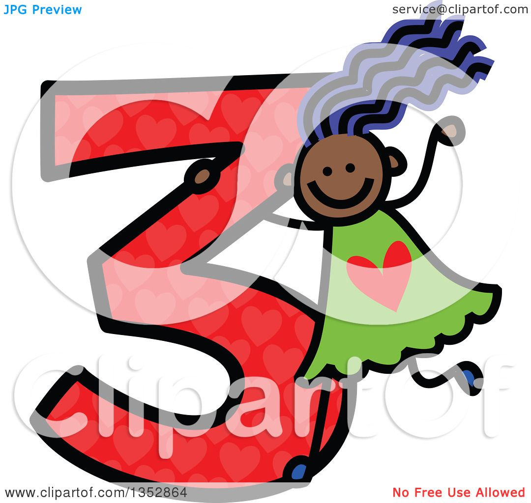 1080x1024 Clipart Of A Doodled Toddler Art Sketched Purple Haired Black Girl