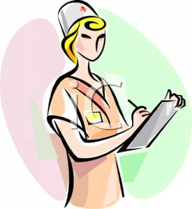 275x300 Royalty Free Clipart Image A Nurse Writing On A Chart