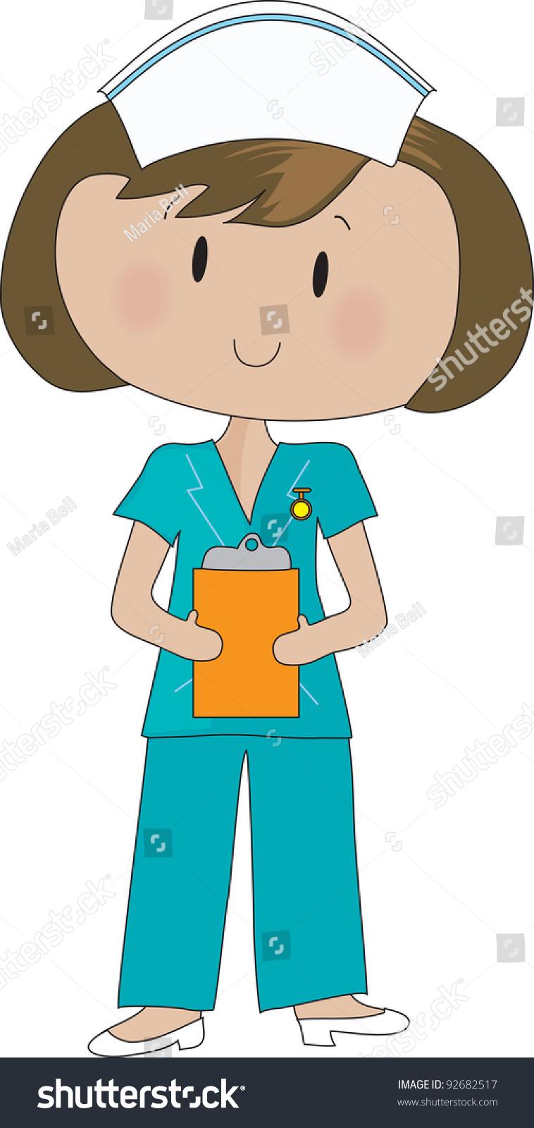 758x1600 Nurse Clipart Suit