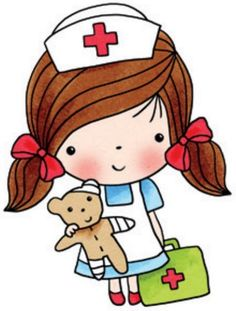 236x311 Teddy Bear ~ Nurse Holding Bandaid By Stinkin Cute Paper Piecings