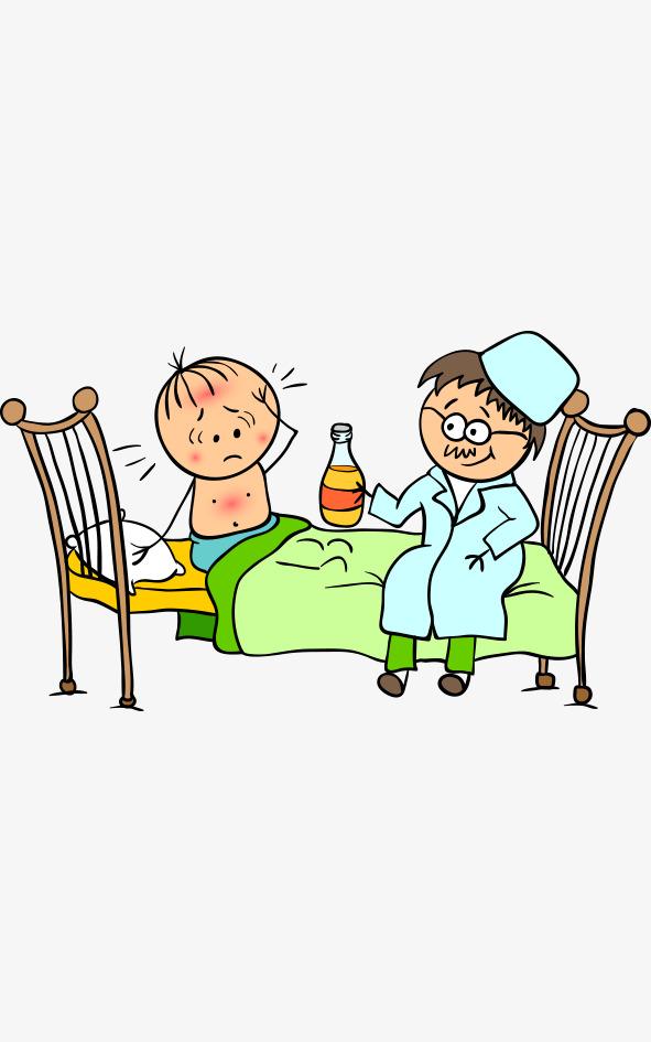 591x945 Cartoon Wind Children's Hospital Baby Take Medicine, Nurse Care