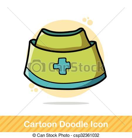 450x470 Nurse Hat Color Doodle Vectors