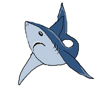 350x329 Free Great White Shark Clip Art Picture