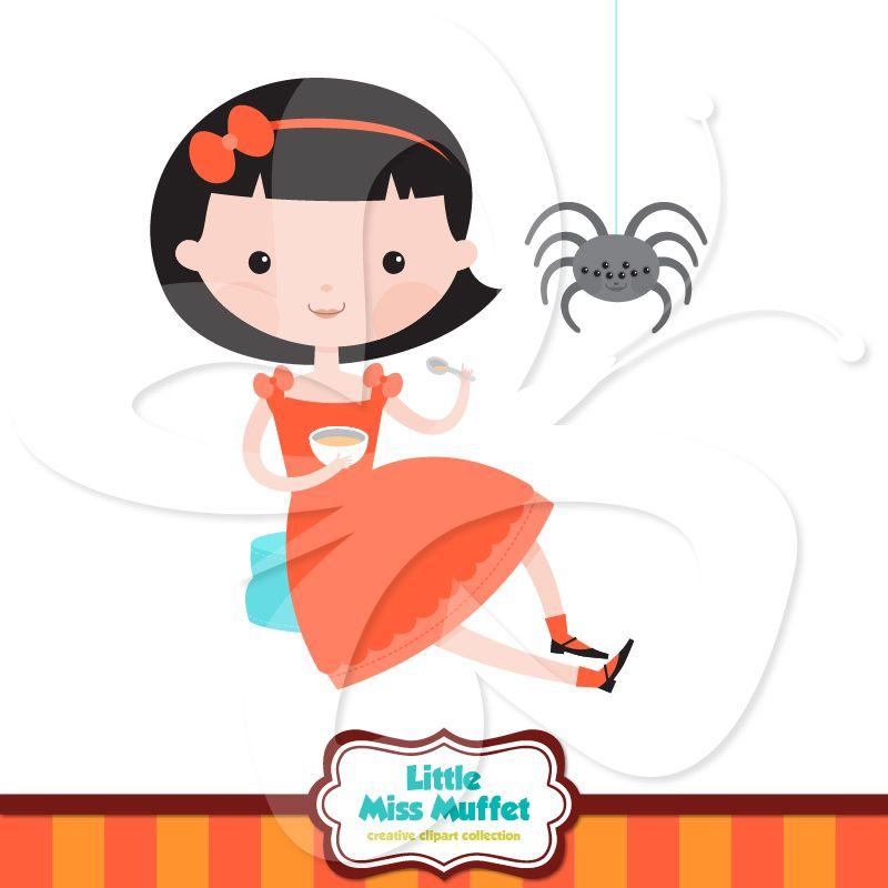 800x800 Sweet Little Miss Muffet Clip Art, Along With Spider Clipart