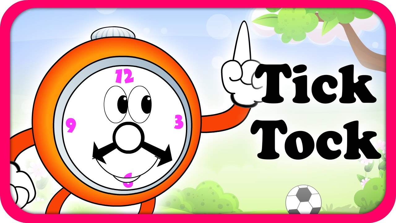 1280x720 Tick Tock Merrily Sings The Clock Lyrical Video English Nursery