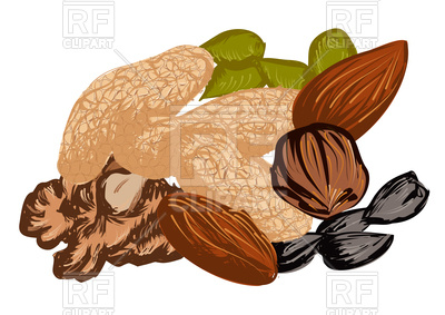 400x283 Dried Fruit Isolated On A White Background Royalty Free Vector