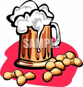 285x300 Royalty Free Clipart Image Beer Nuts And A Pint Of Beer