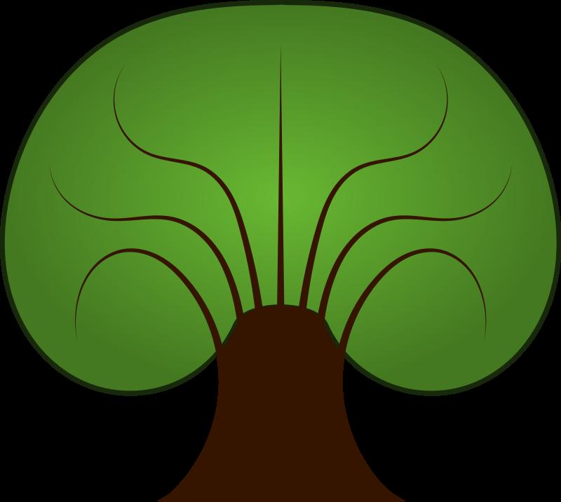 800x716 Oak tree silhouette clip art free