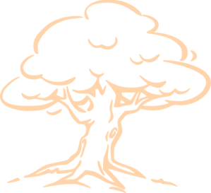 299x273 Peach Oak Tree Clip Art