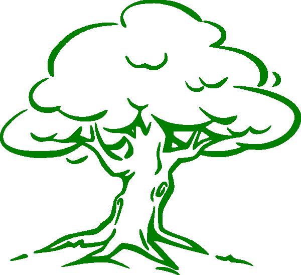 600x548 Green Oak Tree Clip Art