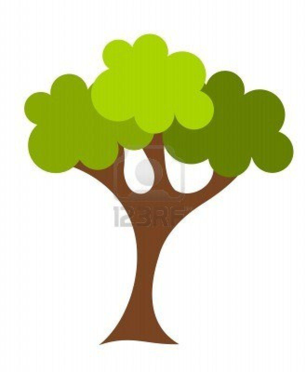 987x1200 Green Cartoon Oak Tree Vector Illustration Stock Photo Vector